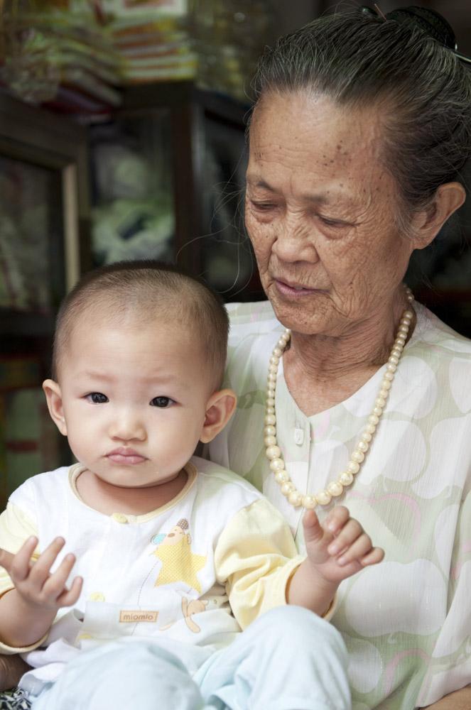 Grossmutter mit Kleinkind